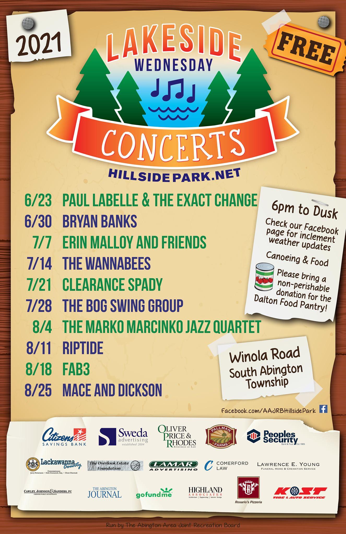 Hillside Park Concerts