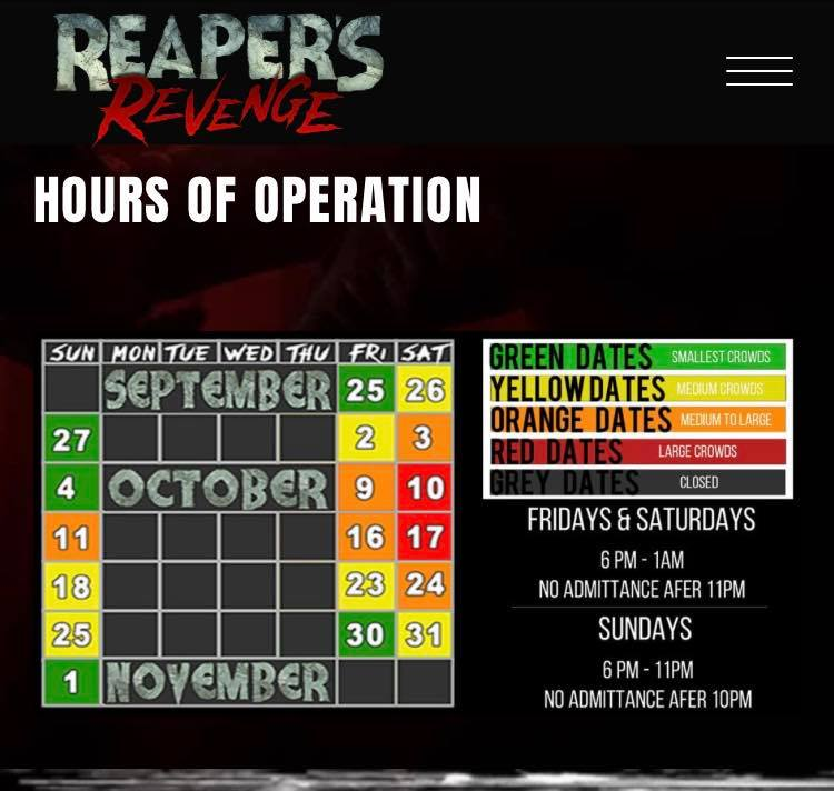 Reaper's Revenge Hours 2020